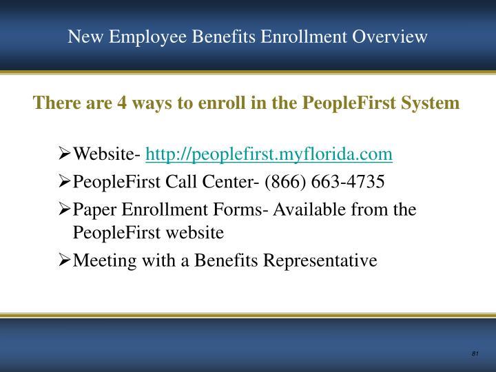 New Employee Benefits Enrollment Overview