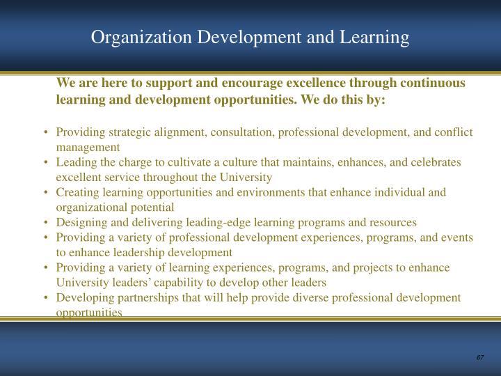 Organization Development and Learning