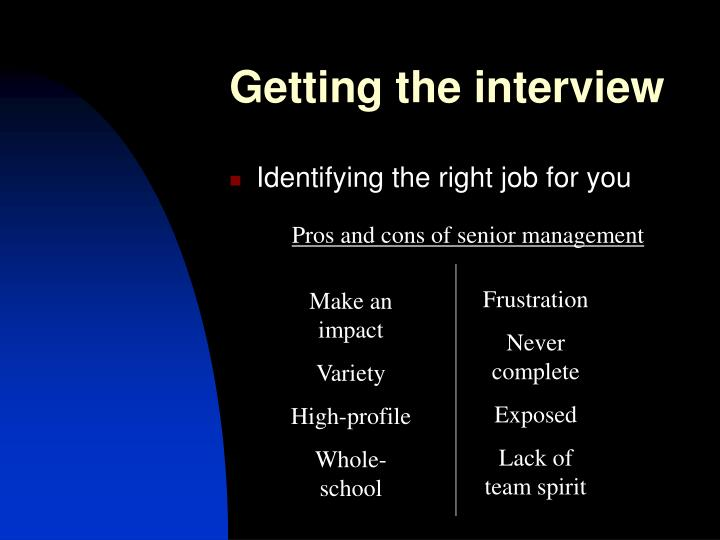 Getting the interview