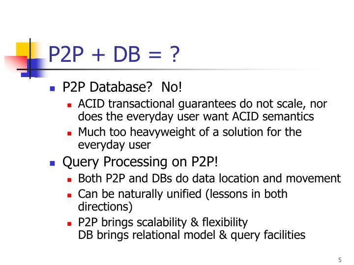P2P + DB = ?