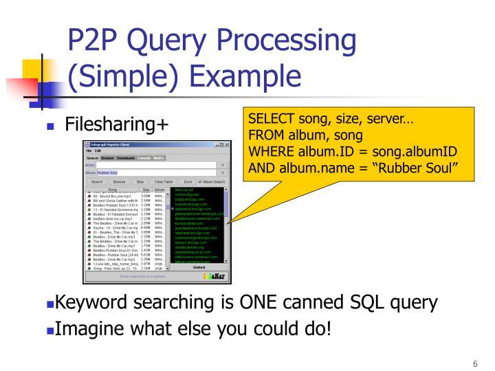 P2P Query Processing