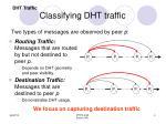 classifying dht traffic
