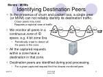 identifying destination peers