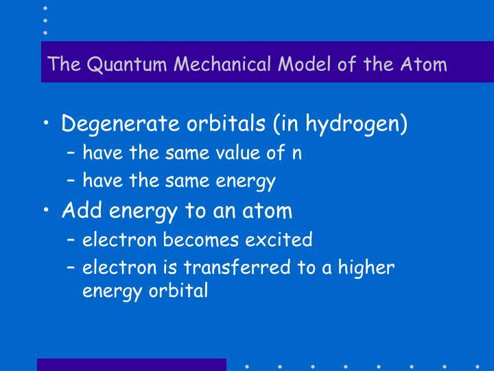 The Quantum Mechanical Model of the Atom
