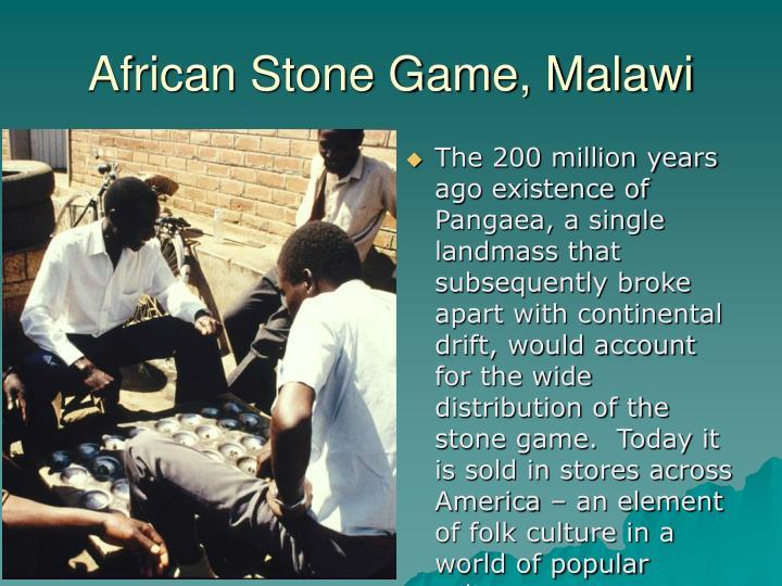 African Stone Game, Malawi