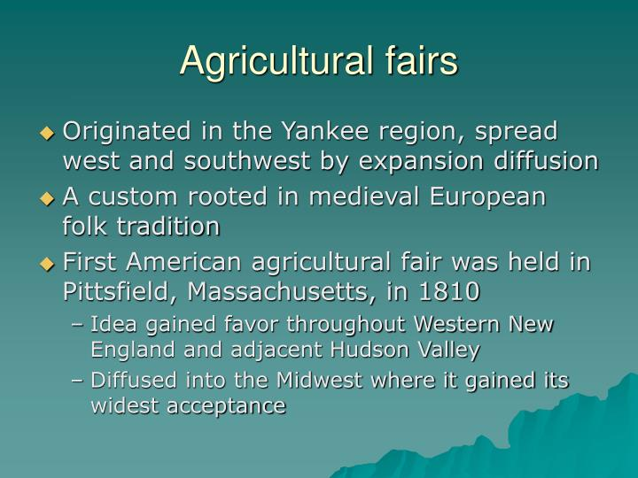 Agricultural fairs