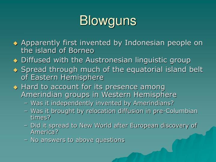 Blowguns