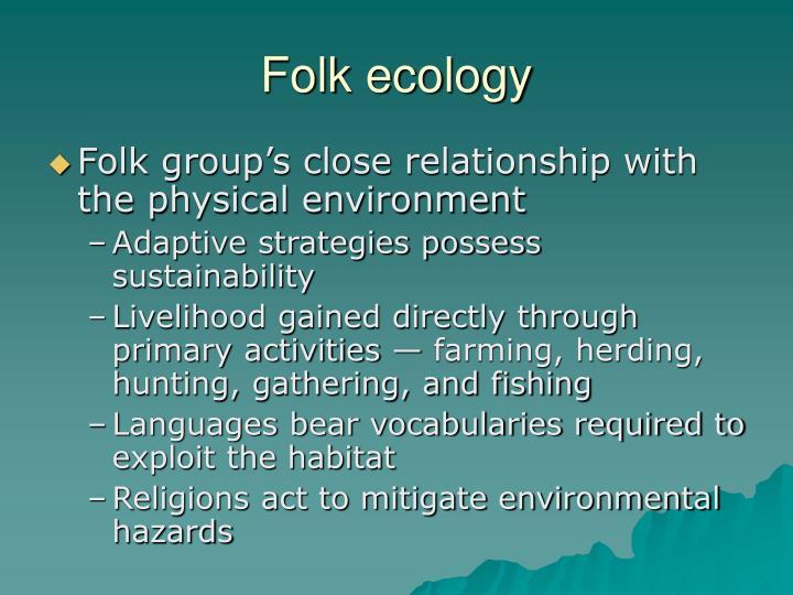 Folk ecology