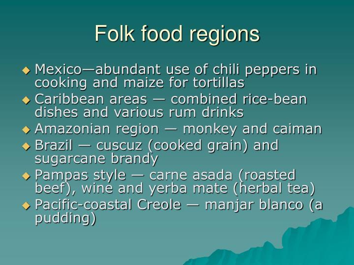 Folk food regions