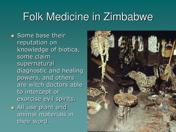 Folk Medicine in Zimbabwe