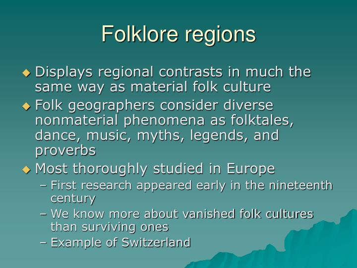 Folklore regions