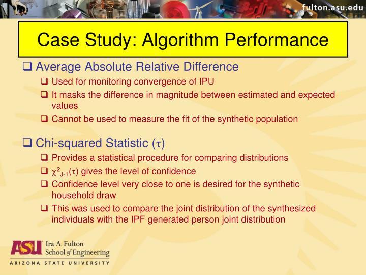 Case Study: Algorithm Performance