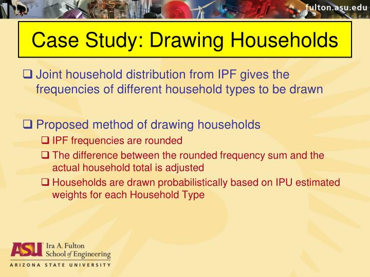 Case Study: Drawing Households