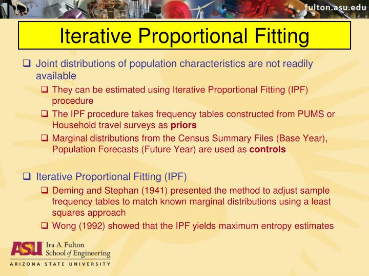 Iterative Proportional Fitting