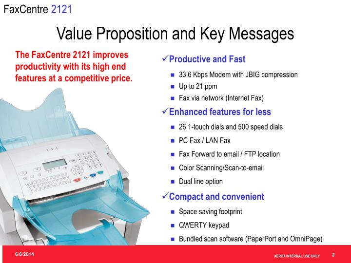 Value proposition and key messages