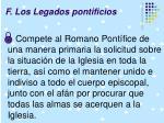 f los legados pontificios