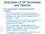 examples of sp successes and failures1