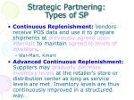 strategic partnering types of sp1