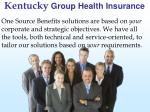 kentucky group health insurance