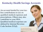 kentucky health savings accounts