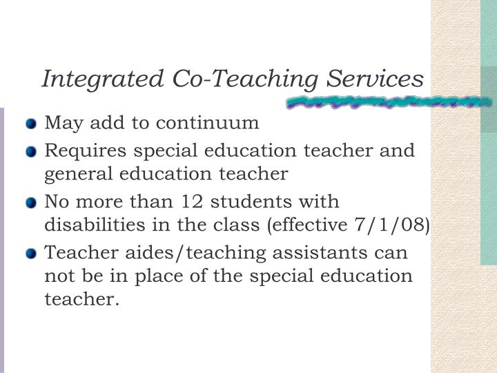 Integrated Co-Teaching Services
