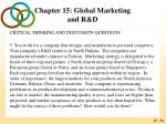 chapter 15 global marketing and r d53