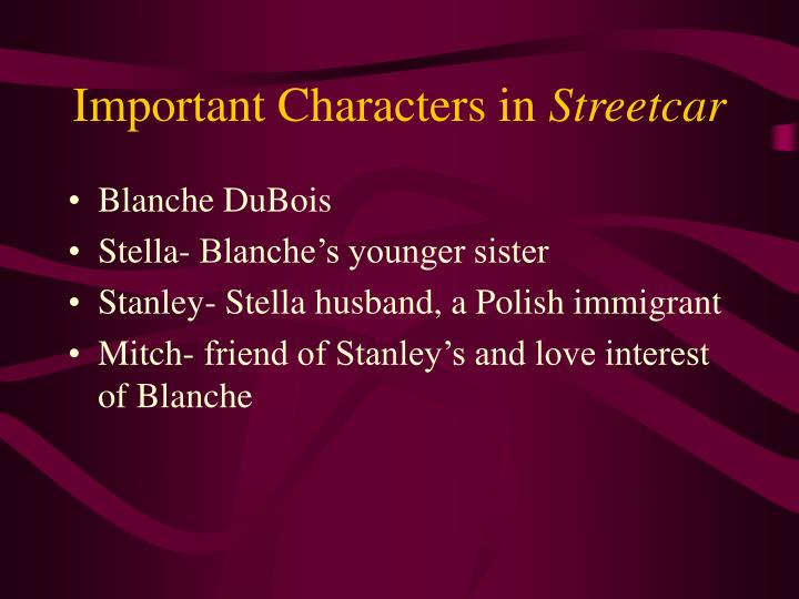 Important Characters in