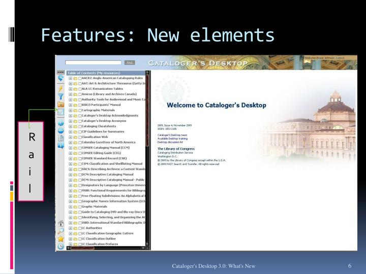 Features: New elements