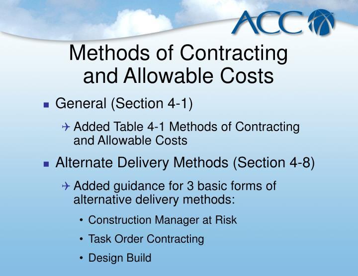 Methods of Contracting