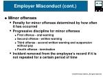 employer misconduct cont