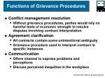 functions of grievance procedures