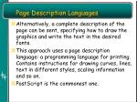 page description languages1