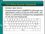 text entry devices keyboards