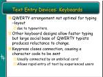 text entry devices keyboards1