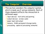 the computer overview