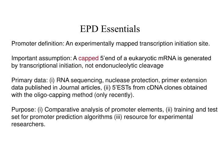 EPD Essentials