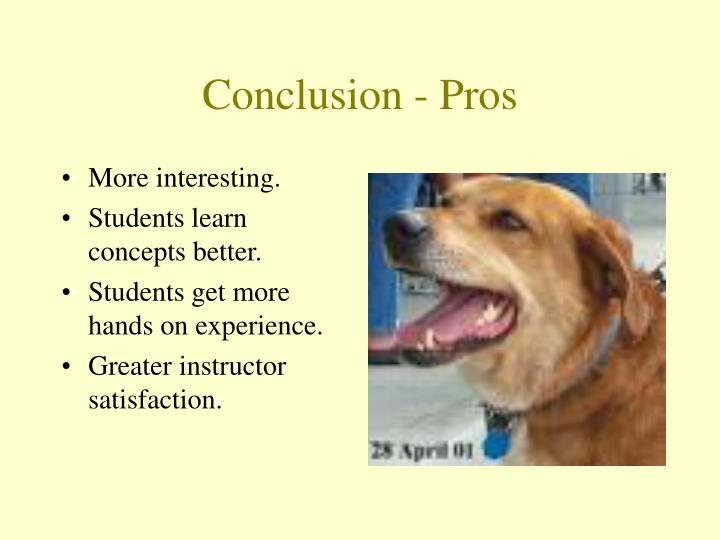 Conclusion - Pros