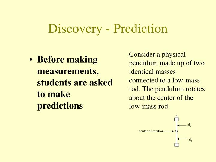 Before making measurements, students are asked to make predictions