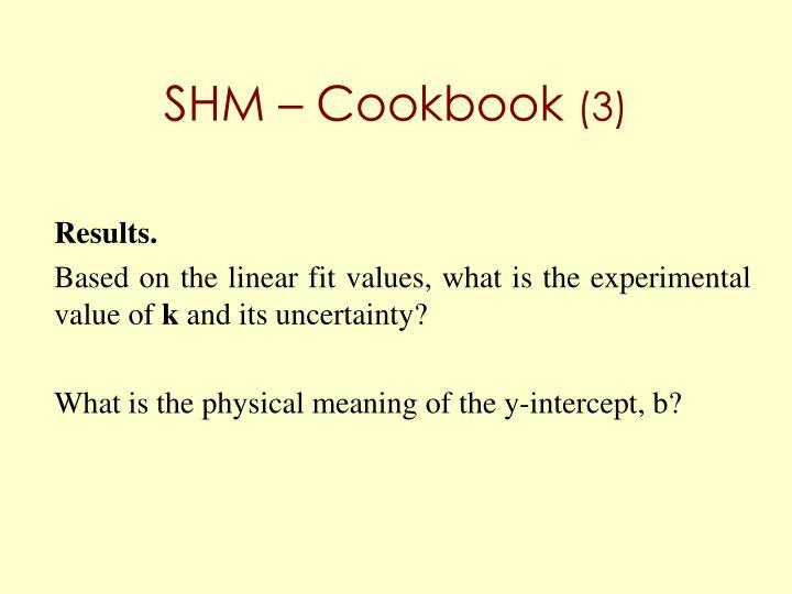 SHM – Cookbook