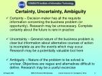 certainty uncertainty ambiguity