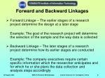 forward and backward linkages