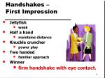 handshakes first impression