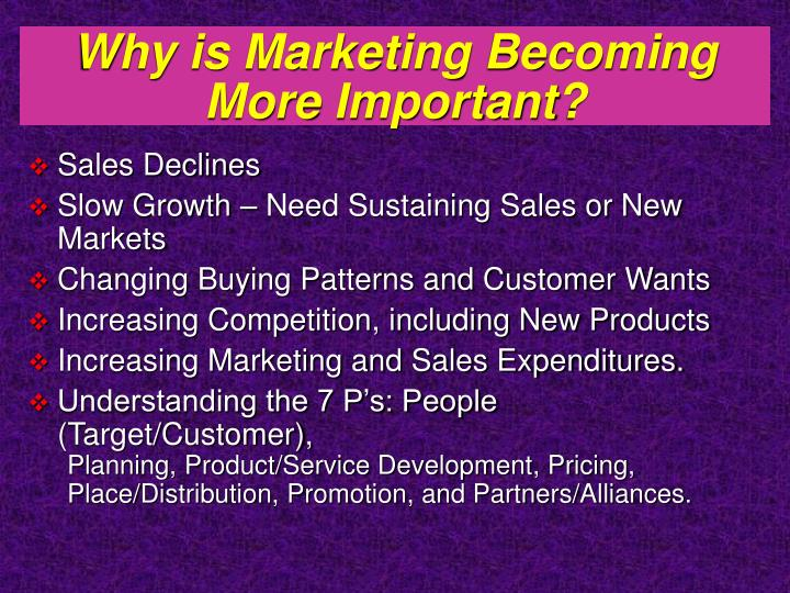 Why is marketing becoming more important