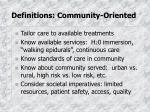 definitions community oriented