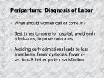 peripartum diagnosis of labor