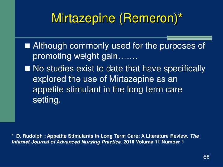 Mirtazepine (Remeron)