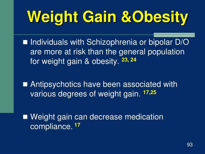 Weight Gain &Obesity