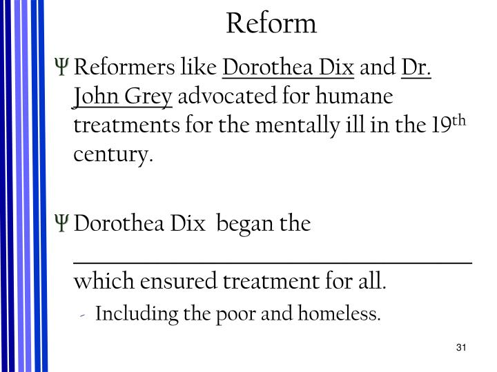 dorothea dix and moral treatment