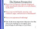 the human perspective