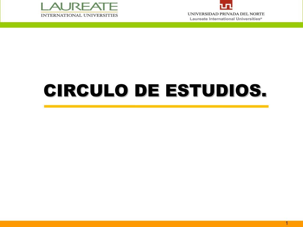 CIRCULO DE ESTUDIOS.